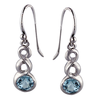 Style:E279F110 ~ Aquamarine and white gold earrings