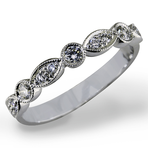 Style:WB237.R566.~ A uniquely set diamond wedding band with lots of sparkle.
