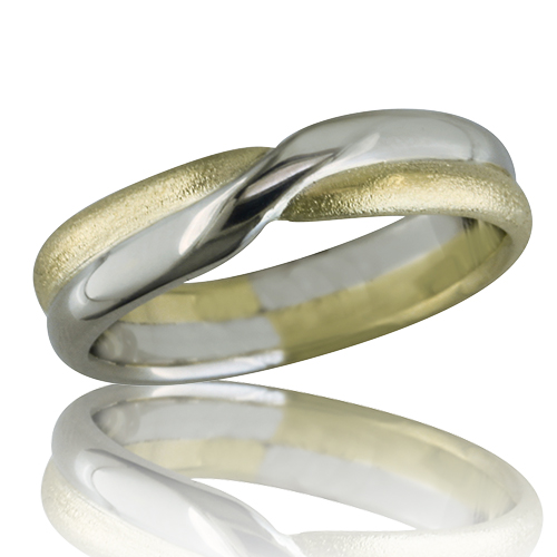 Style:WB170G ~ White and yellow gold twisted together to symbolize your love.